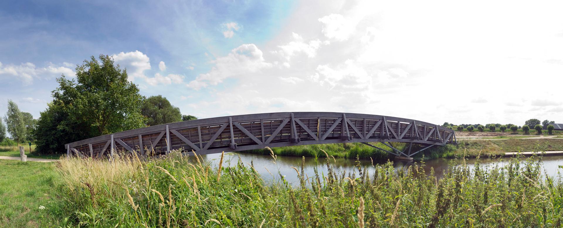 houten vakwerkbrug Engbergen