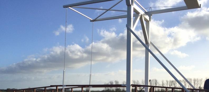 Nieuwe ophaalbrug Burdaard